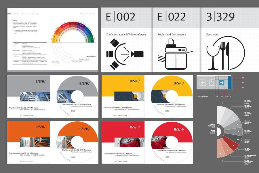 Beispiele für die Umsetzung eines Corporate Design für ein Großunternehmen