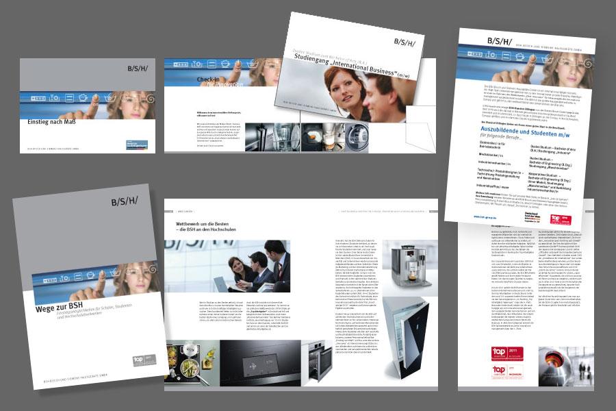 Informationsmaterial für Berufseinstieg und Karriere bei BSH Hausgeräte
