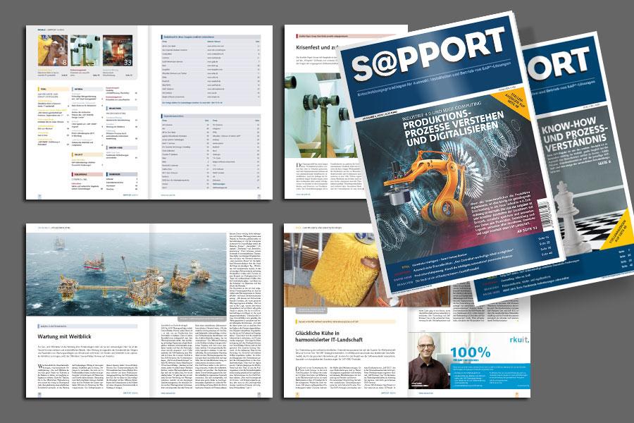 Beispielseiten und Titelgestaltung für eine Fachzeitschrift