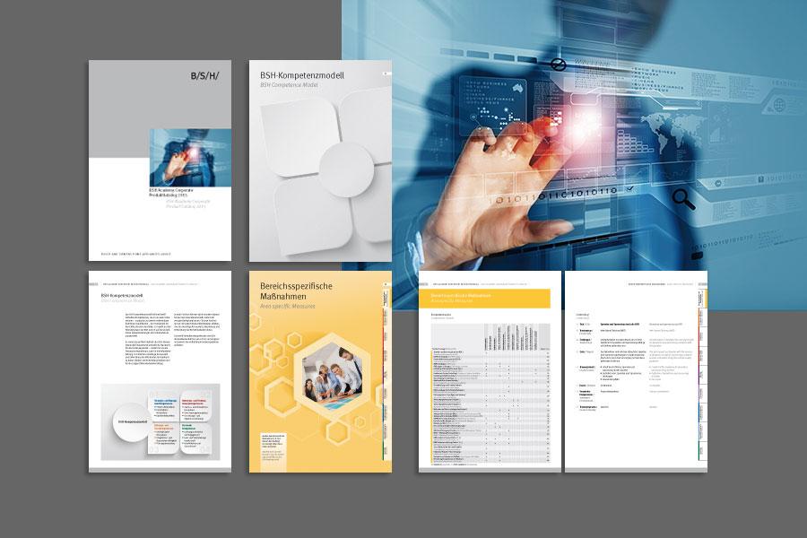 Beispielseiten für einen Katalog zu Web-Trainings und Seminaren