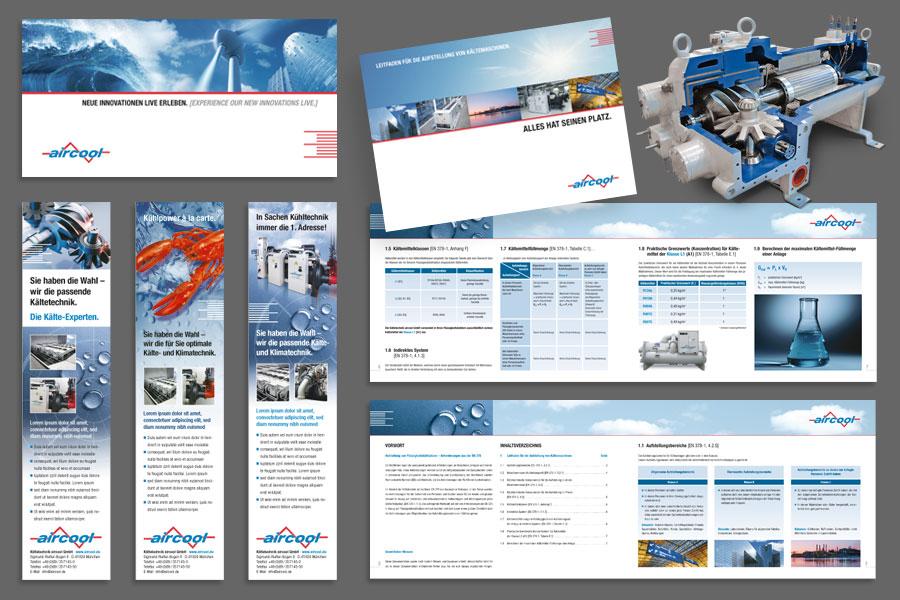 Werbekommunikation für Kältetechnik aricool in München